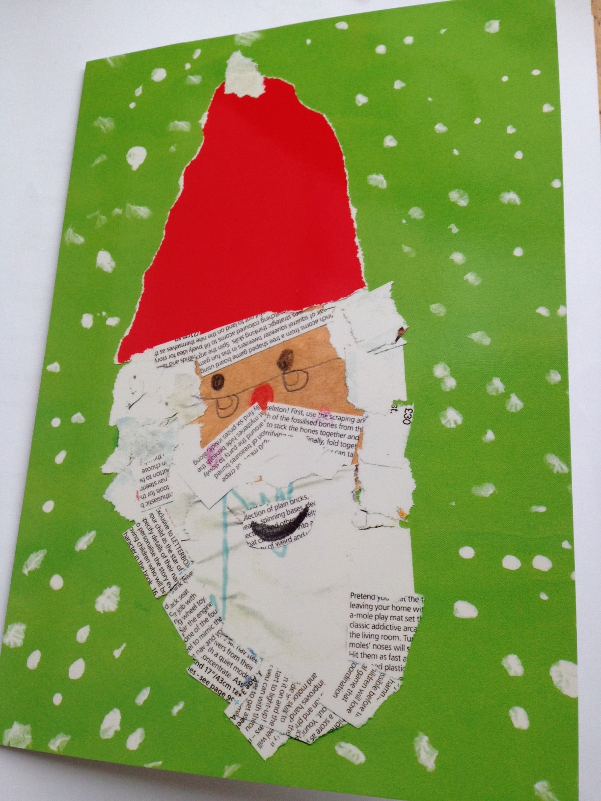 Children's Christmas Card design